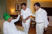 Hon'ble Ex-CM Haryana Shri Chotala Ji With Santosh Shukla