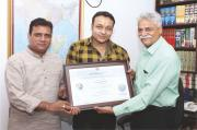 Nishant Pandey gets recognition by Alma Foundation
